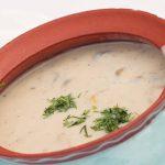 Pievagrybių sriuba su svogūnais