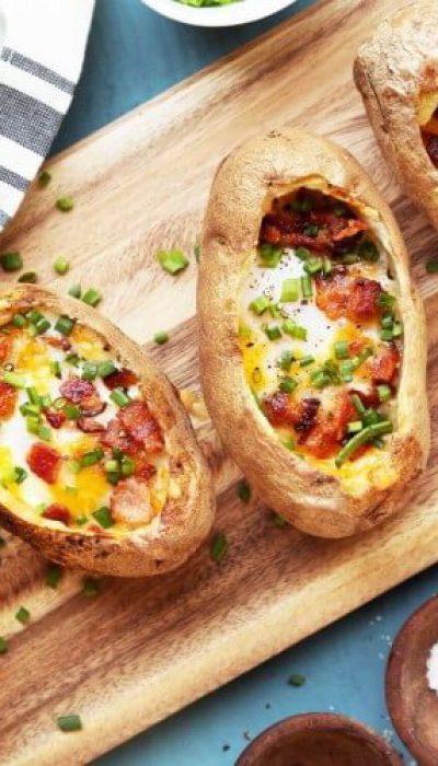 Įdarytos pusryčių bulvės