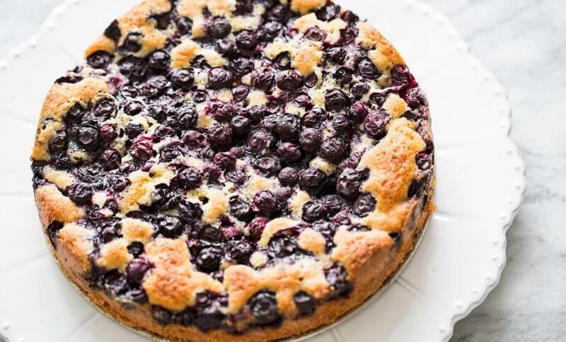 Mėlynių sezono pyragas