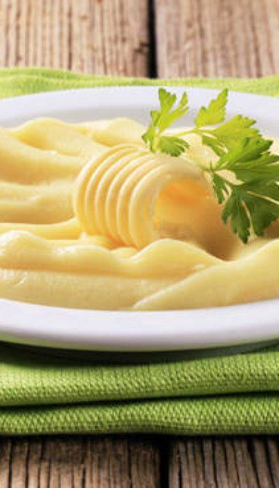 Puri bulvių košė su sviestu