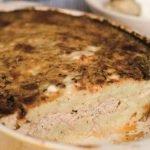 Bulvių plokštainis su faršu