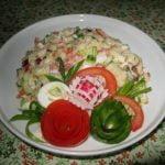 Daržovių – kiaušinių mišrainė velykoms