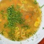 Daržovių sriuba su grikiais
