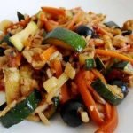 Kepintos daržovės su vištiena