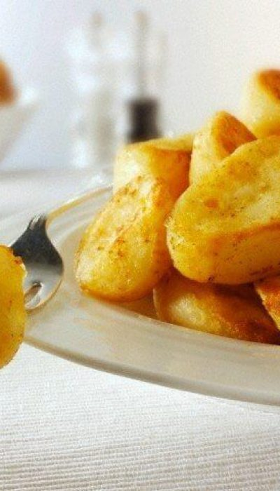 Keptos bulvės su paprika ir sūriu