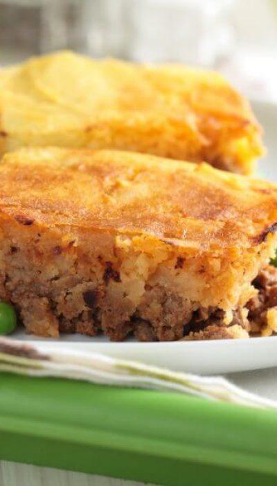 Maltos mėsos ir bulvių apkepas