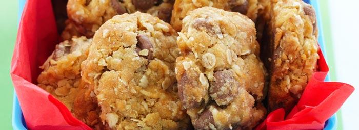 Sausainiai su kokosu ir avižų dribsniais