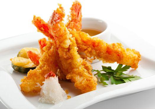 Krevetės tempura tešloje