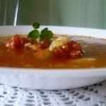 Tiršta faršo ir daržovių sriuba