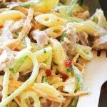 Tuno ir makaronų salotos