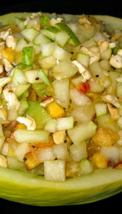 Vaisių salotos melione