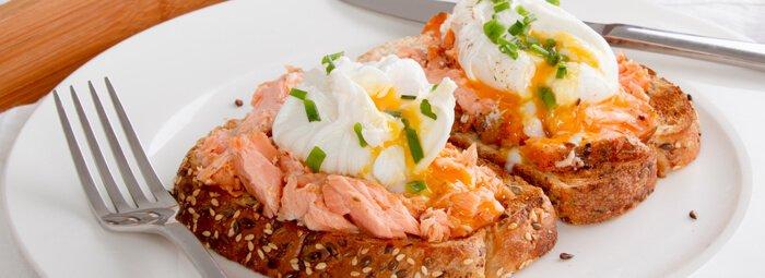 Virtų kiaušinių ir lašIšos užkandis