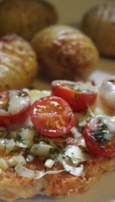 Vištienos kepsnys su sūriu
