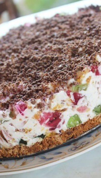 Grietininis želė tortas