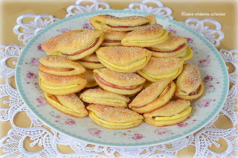 Varškės sausainiai su obuoliais