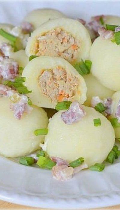 Virtų bulvių kukuliai su vištiena