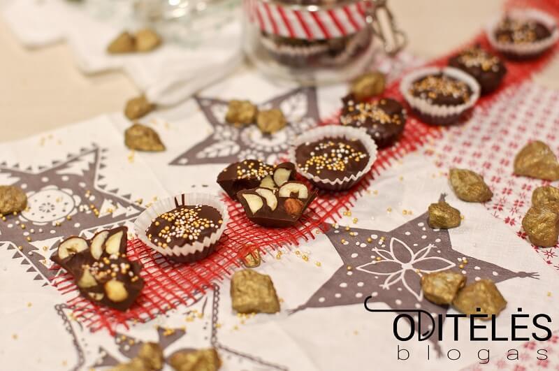 Šokoladiniai saldainiai su riešutais