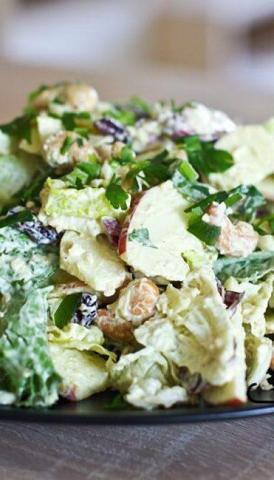 Vaisių ir riešutų salotos