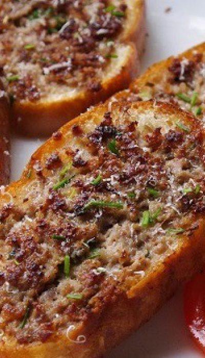 Keptuvėje kepti sumuštiniai su faršu