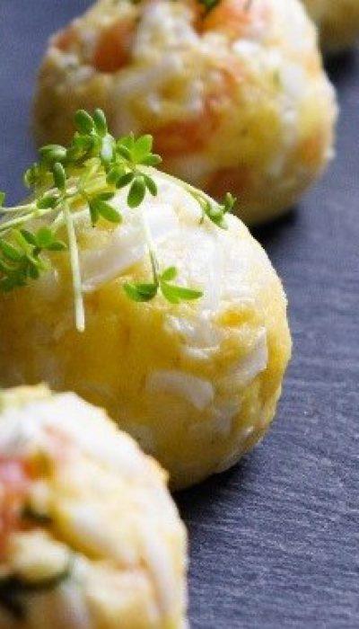 Kiaušinių ir sūrio rutuliukai