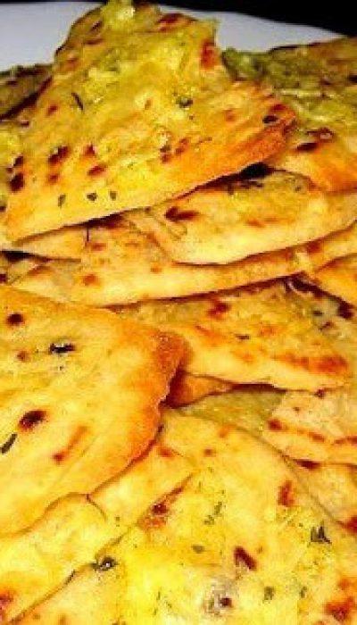 Tortilijų traškučiai su česnakais ir sūriu