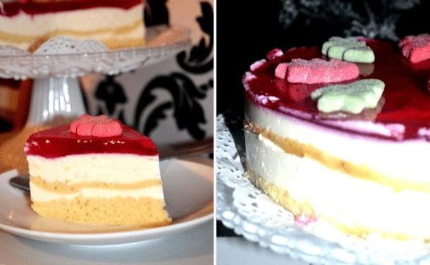 Varškinis tortas su zefyrais
